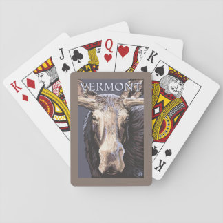 VermontMoose Up Close Playing Cards