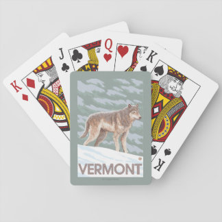 VermontWolf Scene Playing Cards