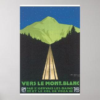Vers Le Mont. Blanc Vintage Travel Poster