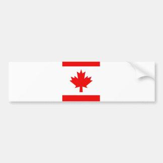 Vertical Canadian Flag Bumper Sticker