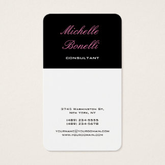 Vertical Classical Feminine Stylish Trendy Business Card