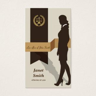 Vertical Dark Suit Faux Gold Libra Laurel Lawyer Business Card