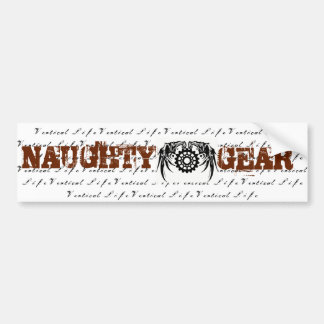 Vertical Life Naughty Gear Sticker Bumper Sticker