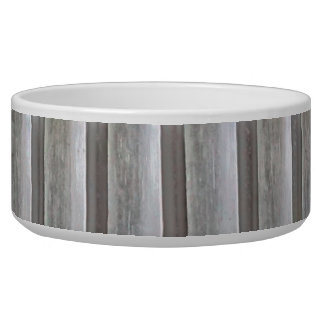 Vertical Metallic Stripes Pet Bowl
