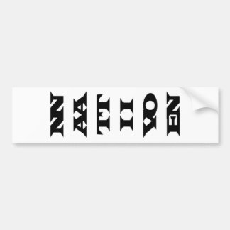 Vertical Native Nation Bumper Sticker