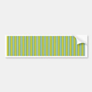 vertical parallel lines background green stripes bumper sticker