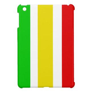 Vertical Rasta Stripes with White iPad Mini Cover