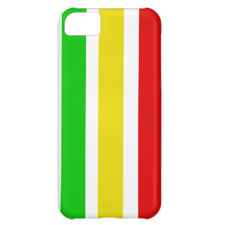 Vertical Rasta Stripes with White iPhone 5C Case