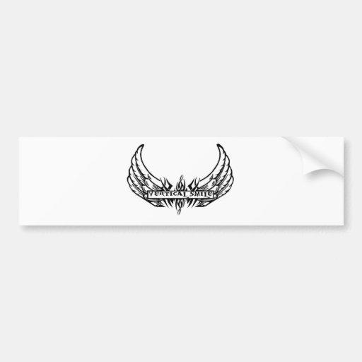 Vertical Smile Bumper Sticker