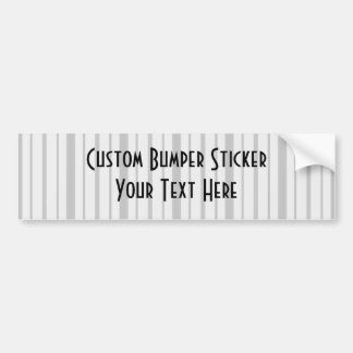 Vertical Stripes 1 - Grey B&W Bumper Sticker