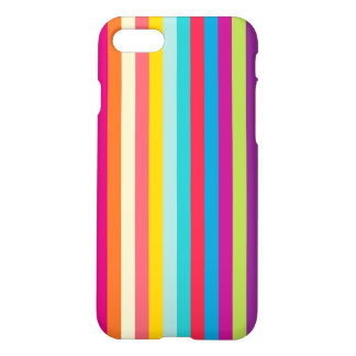 Vertical Stripes In Summer Colors iPhone 7 Case