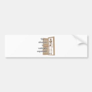 Vertically Bumper Sticker