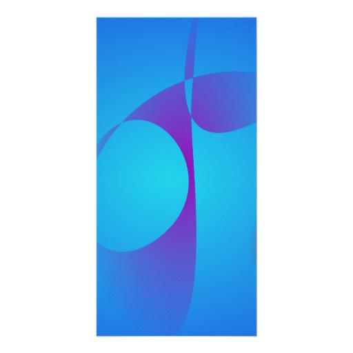 Very Simple Aqua Blue Abstract Art Photo Cards
