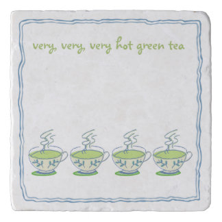 very, very hot green tea trivet