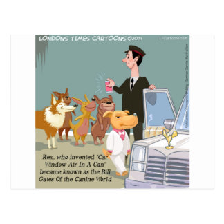 Very Wealthy Dog Funny Postcard