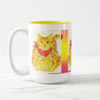 Very Yellow Fat Cat Mug