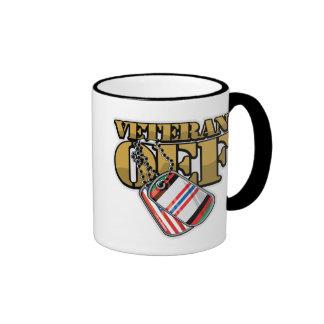 Veteran OEF Dog Tags Ringer Mug
