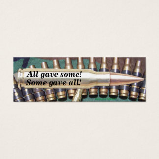 veterans day troops military bullet bookmarker vfw mini business card