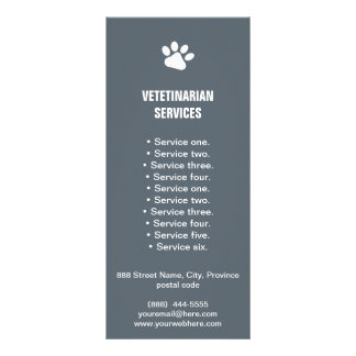 Veterinarian Services paw rack card