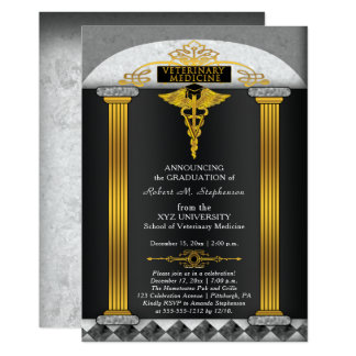 Veterinary Medicine Veterinarian Graduation Card