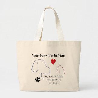 Veterinary Technician - Paw Prints on My Heart #2 Jumbo Tote Bag