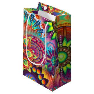 Vibrant Abstract Small Gift Bag