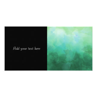 Vibrant Aquamarine Watercolor Background Photo Greeting Card