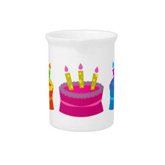 Vibrant Birthday Cakes Pitcher