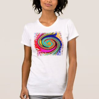 Vibrant Colorful Abstract Swirl of Melted Crayons Tee Shirts