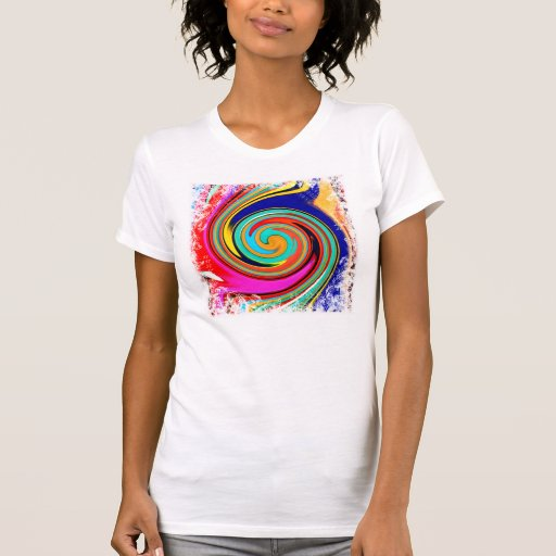 Vibrant Colorful Abstract Swirl of Melted Crayons Shirts