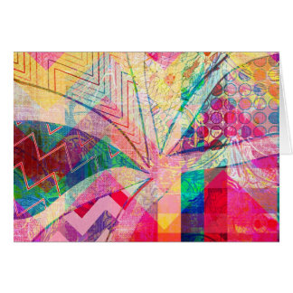Vibrant Colorful Funky Abstract Girly Butterfly Ch Note Card