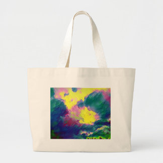 Vibrant Festive Multi-Color Abstract Pattern Large Tote Bag
