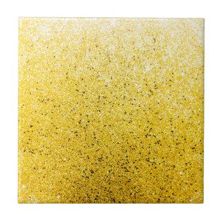 Vibrant Glittery Golden Sparkle Tile