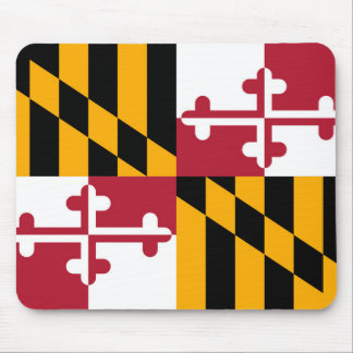 Vibrant Maryland State Flag Mouse Pad