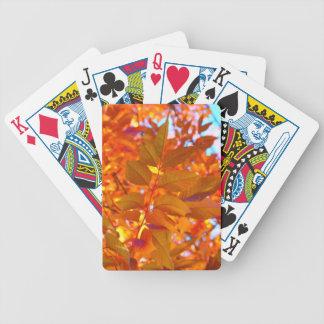 Vibrant Orange and Gold Autumn Leaves Card Decks