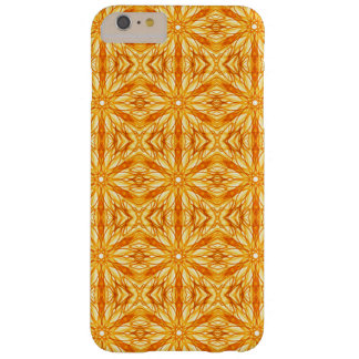 Vibrant Orange and Yellow Fractal Barely There iPhone 6 Plus Case