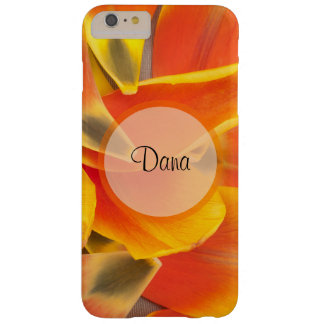 Vibrant Orange Tulip Petals Photograph Barely There iPhone 6 Plus Case