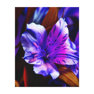 Vibrant Purple Tiger Lily Art Wrapped Canvas