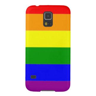 Vibrant Rainbow Flag Gay Pride Galaxy S5 Covers
