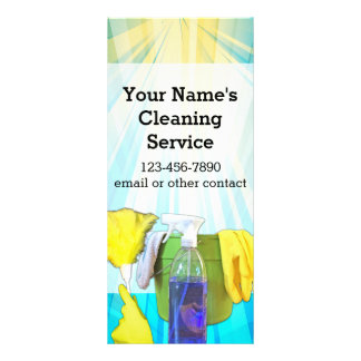 Vibrant Rays Custom Cleaning Service Business Full Color Rack Card