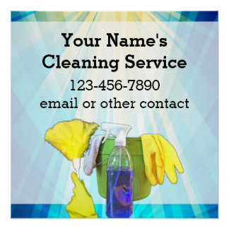 Vibrant Rays Custom Cleaning Service Business Poster
