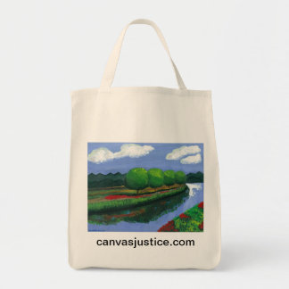 """Vibrant Serenity"" Tote Bag from Canvas Justice"