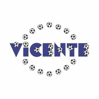 Vicente in Soccer Blue Standing Photo Sculpture