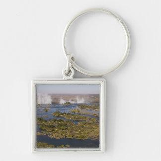 Victoria Falls, Zambesi River, Zambia - Zimbabwe 2 Silver-Colored Square Key Ring