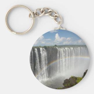 Victoria Falls Zimbabwe Basic Round Button Key Ring