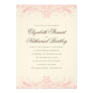 Victoria Wedding Invitation in Blush