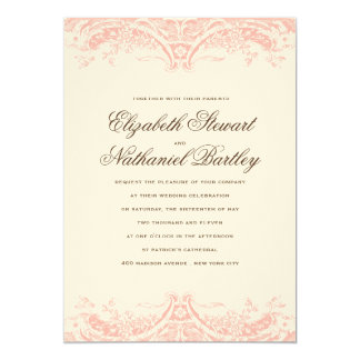 Victoria Wedding Invitation in Blush