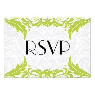 Victorian Baroque Lime Flourish Rsvp Custom Invitation