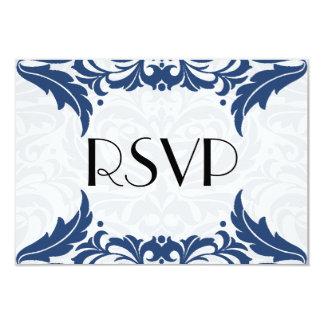 Victorian Baroque Midnight Blue Flourish Rsvp Card