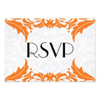 Victorian Baroque Orange Flourish Rsvp Announcements